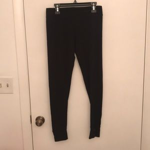 Merona black button cuff leggings NWOT